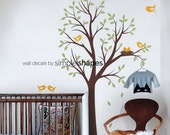 Baby Nursery Wall Decal: Tree with Birds and Nest Decal - Original Design by Simple Shapes