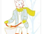 Carococo /greetings blank card 5x7 /The ballad of Mr. Fox / by Carol-Anne Pedneault