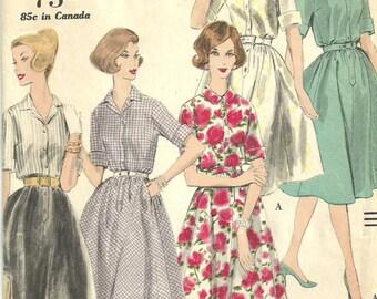 Vogue 9972 / Vintage 1960s Sewing Pattern / Shirtwaist / Dress Size 12