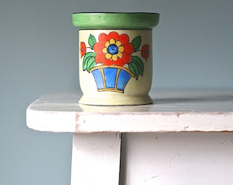 Hand Painted Porcelain Cup Tashiro Shoten Japan Flower Basket