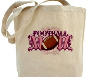 Canvas Tote Bag - FootBall Mom - Football Tote Bag - Sports Tote
