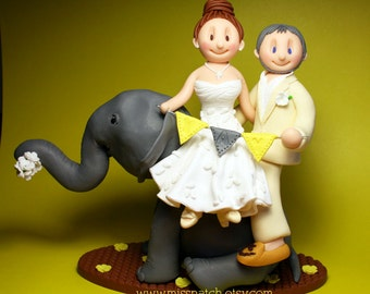 DEPOSIT - Fun Romantic Colorful Custom Wedding Cake Topper