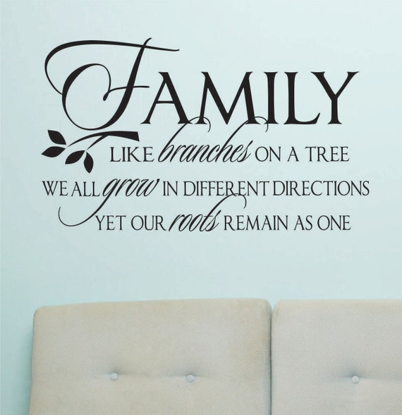 Vinyl Wall Lettering Family Like Branches Grow Quotes Decals