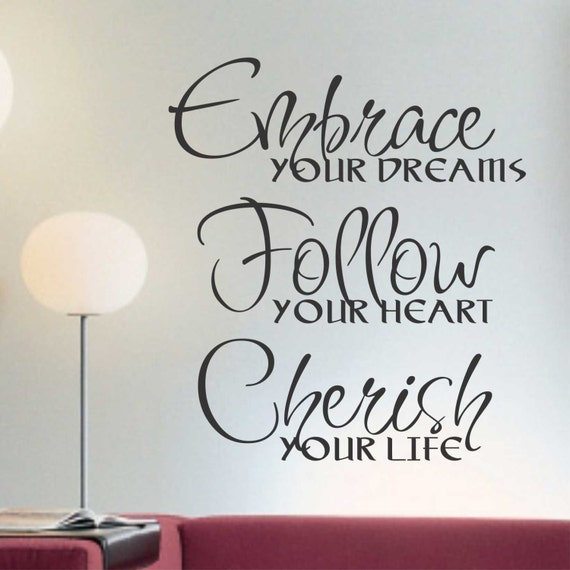Embrace Your Dreams Vinyl Wall Lettering Vinyl Wall Decals