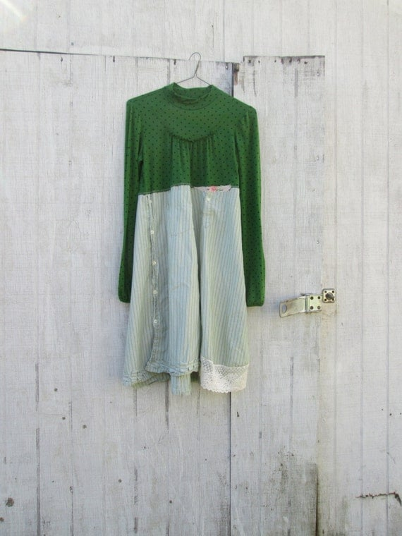 xsmall medium upcycled clothing funky vintage lace