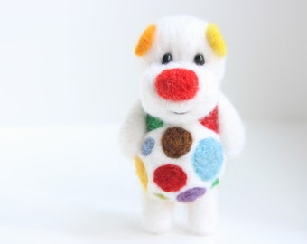 White but colourful pocket bubble bear