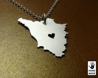 TUSCANY Handmade Personalized Sterling Silver .925 Necklace in a gift box
