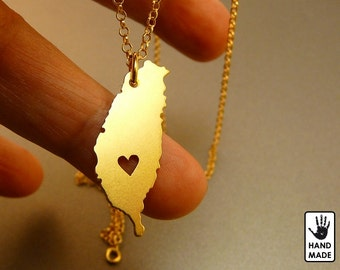 TAIWAN Handmade Personalized Goldplated Sterling Silver .925 Necklace in a gift box