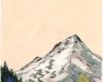 Beyond // 8 x 10 eco-friendly wall art mountain print
