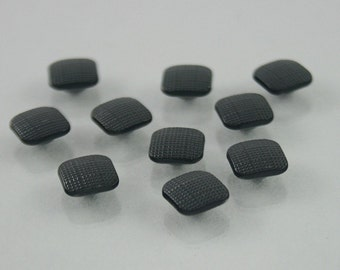 10 pcs. Black Square Rivets Studs Buttons Decorations Findings 8 mm. SQ R8 WY
