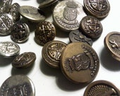 67 Various Sizes Vintage and Antique Buttons