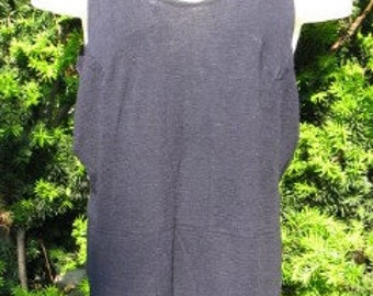 Vintage 1920s Large Navy Blue  Wool One-Piece Swimsuit
