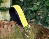 Honey Comb Yellow Wristlet Key Fob