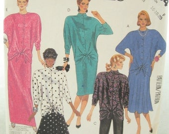 1980s McCalls 2884 Womens Ugly Bow Dress Sewing Pattern Bust 40