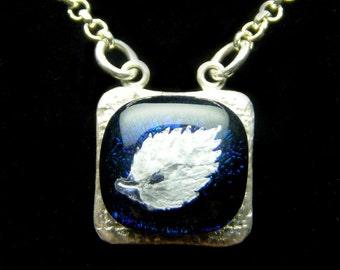 Mini Fine Silver Fused Leaf Necklace