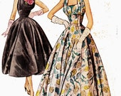 STUNNING RARE Halter Neck Ballgown Pattern McCall's 9662 Scalloped Hem 1950s Vintage Sewing Pattern Evening Prom Size 14 Bust 32 inches