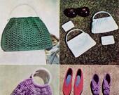Myart Book 14 Crochet Patterns booklet Vintage 60s Purses Handbags Slippers Accessories 26 styles ORIGINAL NOT PDF