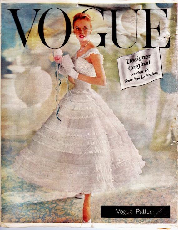 1950s Vintage Wedding Dress Pattern With Petticoat Vogue