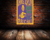 Janis Joplin 1969 Cleveland Concert Poster