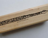 Antique Fountain Pen Rubber Stamp by Stampin Up