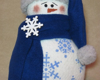"Snowman pattern:  ""Winter Blues"" - #613"