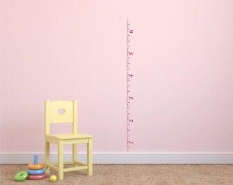 Childrens Ruler Growth Chart Vinyl Wall Decal With Border - Ruler growth chart vinyl decal