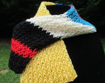 Snow White Inspired Child's Size Scarf.....Free Shipping