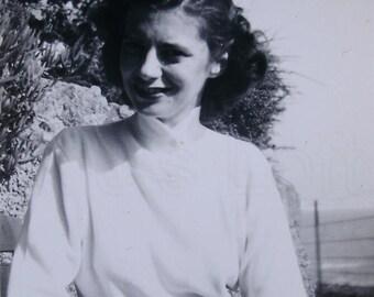 Vintage B/W Photograph - Young Woman