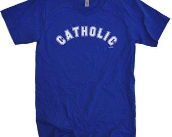 Valentines Gift Catholic Mens T shirt Husband Gift Father's Day Gift Wife Gift Womens T shirt Cool Shirt Cathilic Tee Shirt