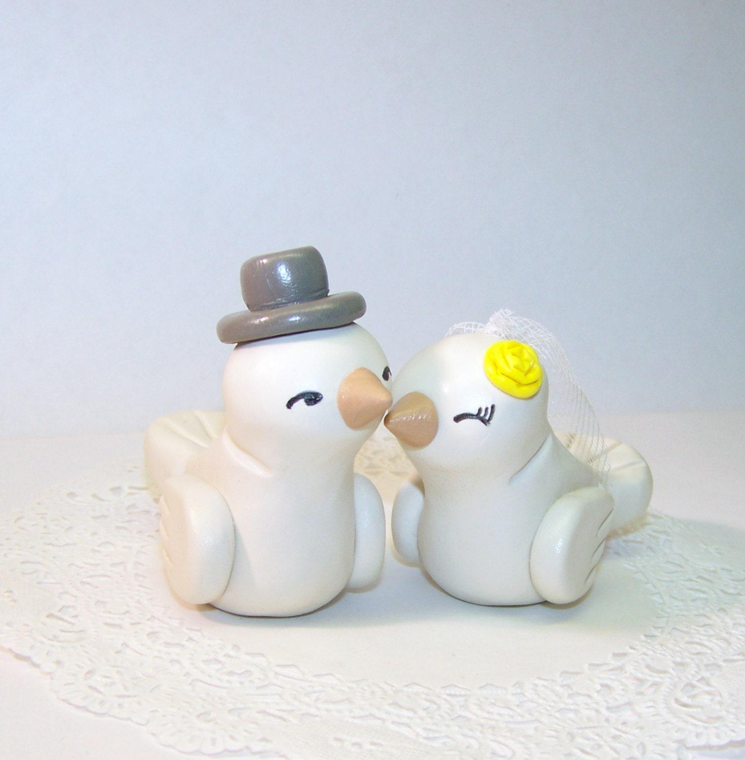 Vintage Birds Wedding Cake Toppers images