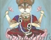 Lakshmi the Hindu God notecard