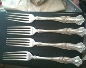 Vintage Grape Rogers Brothers Silverplate Forks 1847