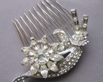 Floral Bridal Hair Comb - Vintage Adorned