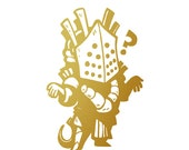 Knight Metallic Gold Vinyl Decal for Smart Phone, Car Window or Laptop