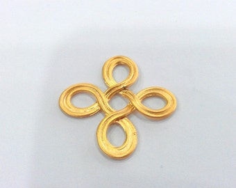 2 Pcs. (32 mm) Gold Plated Connector  Pendant , G643