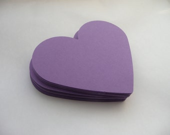 Die Cut Hearts 50 Large Paper Hearts Wedding decorations Love Scrapbooking Party Wish Tag Wedding Tag Paper Die Cut Cards Purple