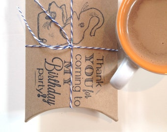 Children's Birthday Party Favors.  Hot cocoa favors. Customization available. Set of 10.