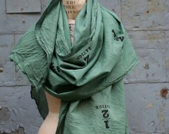 Green Scarf, Men's Accessories, Women's Scarves, Women's Accessories