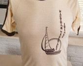 vintage (t shirt) MARTHA'S ViNEYARD iSLAND 70s Sherry (36 inches around chest)