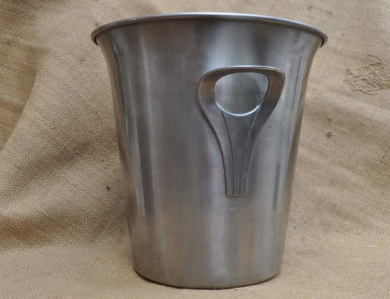 French champagne bucket 18 10 stainless steel 1980s guy - Guy degrenne inox france ...