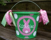 Personalized Easter Bucket 5 QT assorted colors