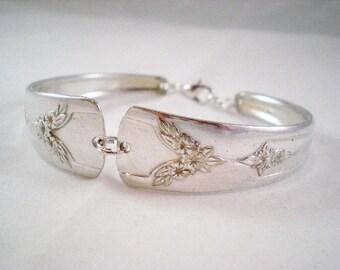 ROSEBUD 1930 Spoon Bracelet, Silverware Bracelet, Silverware Jewelry, Wedding Bracelet, Vintage Bride