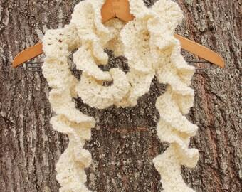 Ruffled Curly Handmade Scarf