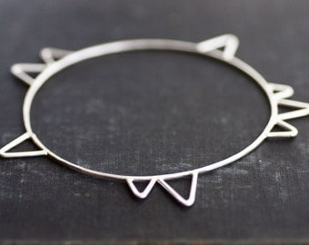 Spike Bangle - Sterling Silver