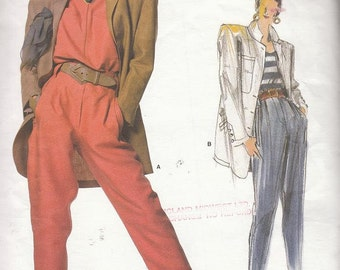 Vintage Vogue MONTANA Individualist Designer Pattern Jacket and Pants 1987