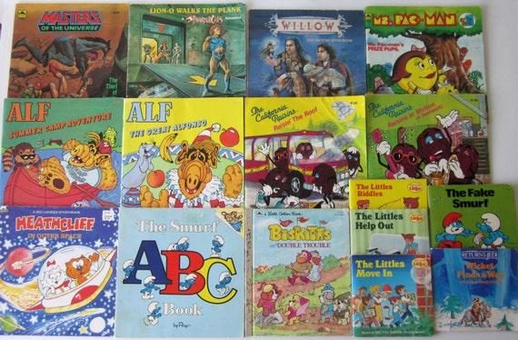 80s Children S Book Lot He Man Smurfs Alf California