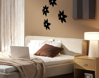 Vinyl Wall Decal Sticker Ninja Stars OSMB858B
