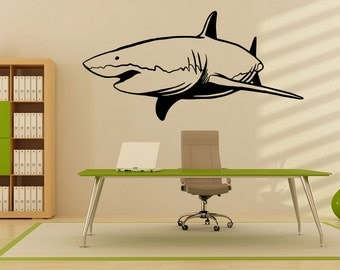 Vinyl Wall Decal Sticker Swimming Shark OSMB953B