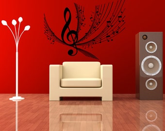 Vinyl Wall Decal Sticker Music Notes Design 1173s
