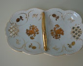 Antique Japanese Double Sided Candy Dish Free Shipping US